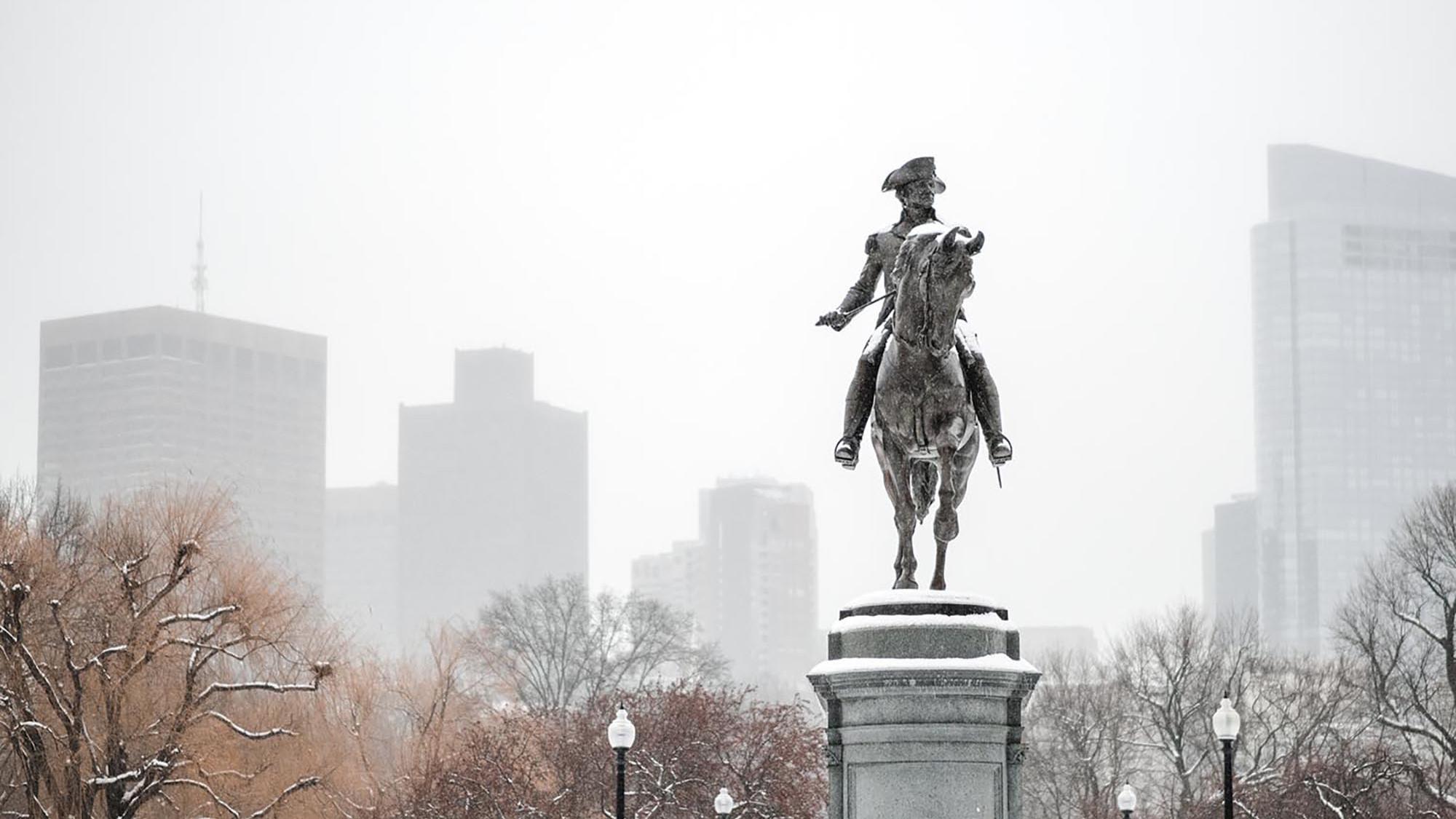 boston ma en hiver